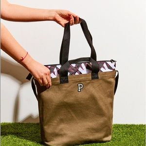 NWT {VS PINK} Insulated Cooler Tote Bag, Olive